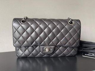 Chanel Medium Black Lambskin SHW Series 14