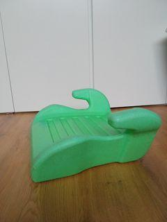 Green baby booster seat