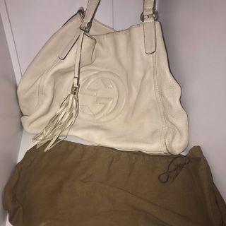 Gucci soho shoulder bag beige