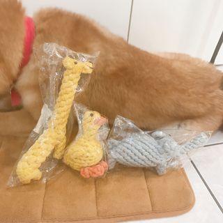 寵物🐶🐱HOOPET寵物狗狗磨牙棉繩玩具(大象/長頸鹿/鴨子)