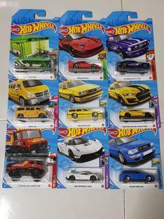 Hotwheels Unimog, Porsche, Mustang, Audi, Koenigsegg, Dodge, Volvo Hot wheels