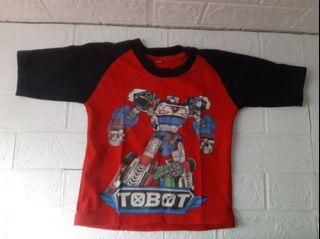 Kaos anak tobot 1-2th
