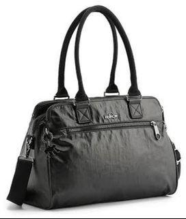 KIPLING Sunbeam Lacquer Night Black Series Bag (Doctor's/Boston/Shoulder/Sling Bag) GOOD AS NEW