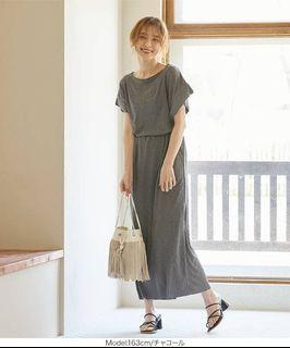 Kobe Lettuce 日本衣服 灰色 全新 皺摺涼感
