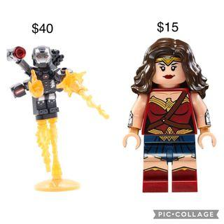 LEGO Marvel and DC Justice League Wonder Woman and War Machine