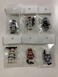 LEGO Star Wars Custom Decaled Kamino Clone Commander, Arc Jesse, Vaughn, Fox  and Cody