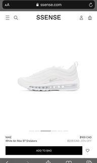 Nike White Air Max 97