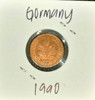 Old Coin Germany 1990