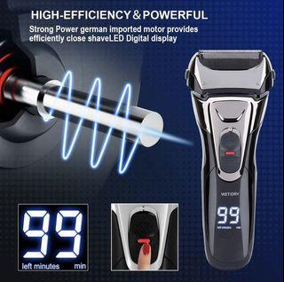 PIONEO IPX7 Waterproof Electric Shaver for Men