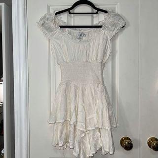 Princess Polly white romper dress