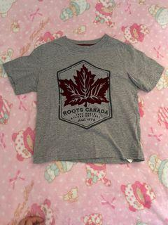 Roots純棉絨logo楓葉🍁大童上衣
