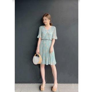 日系Snidel百摺洋裝