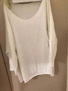 白色大T shirt