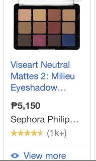 Viseart Eyeshadow palette BRANDNEW AND AUTHENTIC