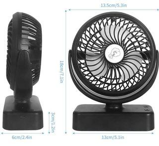 WAITIEE Portable Camping Fan with LED Lights