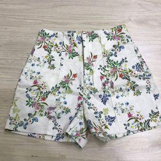 Zara Floral Pants / Highwaist Shorts / Celana Pendek