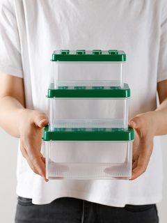 過年生日聖誕節交換禮物台灣有現貨日本綠色微小樂高積木收納盒整理箱玩具模型儲物和小物件分類收納盒