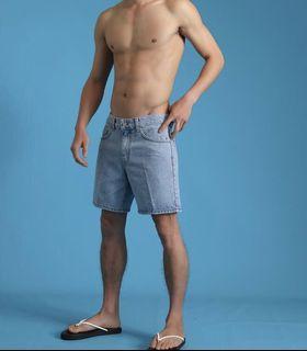 韓國 淺藍牛仔短褲