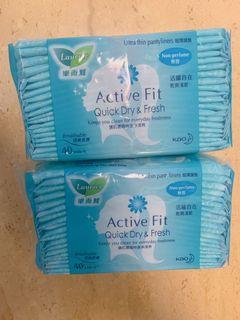 🌟[全場最平] 樂而雅 超薄護墊 無香 40片 Active Fit Quick Dry & Fresh 衛生巾