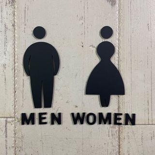 胖胖人壓克力廁所標示牌 指示牌 歡迎牌 商業空間 開店必備 開店用品 洗手間