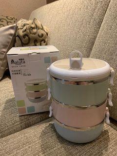 日式花漾手提餐盒 三層餐盒 野餐 便當盒 可手提 保溫 保鮮 保冷