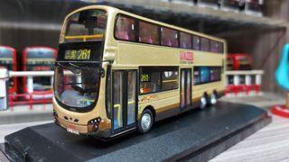 巴士模型 九巴 KMB Super Intelligent Wright Euro V E-Friendly Bus 261(三聖) 1/76