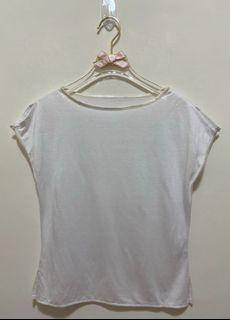 短袖上衣 短袖T恤 素T 圓領上衣 素色 休閒上衣女版-白色