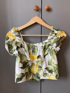 Baju pantai crop top