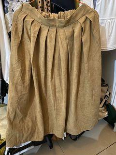 Brown Skirt velvet