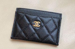 Chanel香奈兒經典黑金卡片夾
