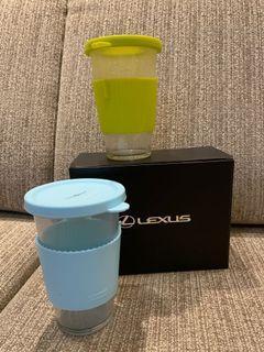 Glasslock 玻璃杯 兩入 Lexus 韓國製造 380ml 可耐溫 -20–120度