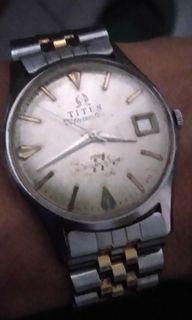 Jual jam Titus 77 Automatic jam jalan normal minus tgl sdh hilang  tulisan nya maklum jam jadul
