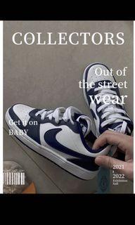 Nike court borough low 2 藍白