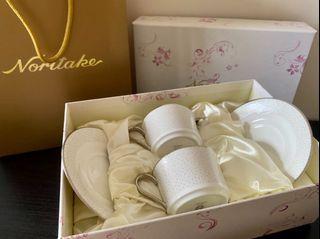 全新日本Noritake皇室瓷器 咖啡杯組禮盒