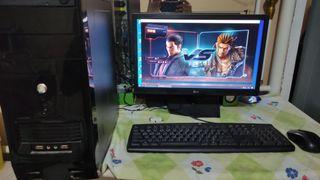 "Pc gaming core i3 gen 4 ram 8gb vga rx460 2gb ddr5 monitor 19"""