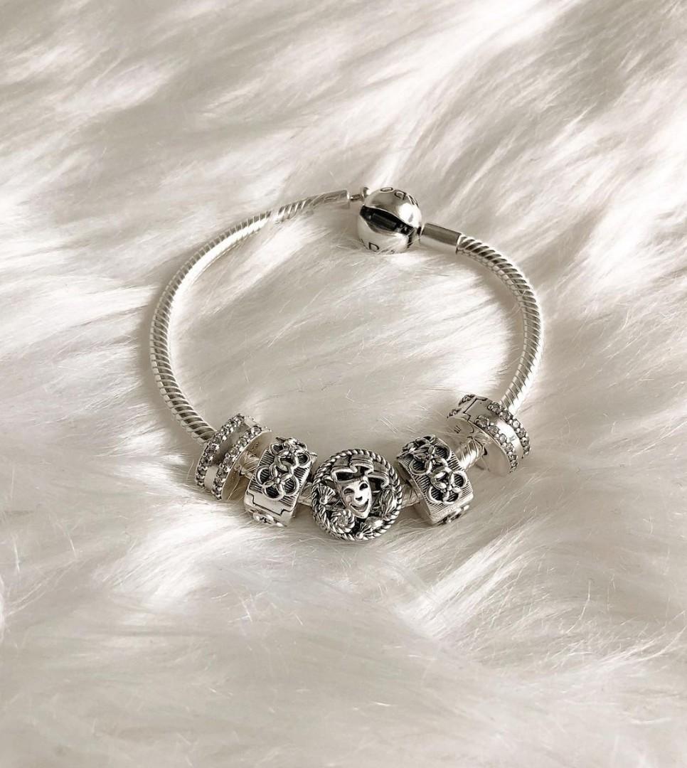 Sale Pandora Bracelet With Charms Women S Fashion Jewelry Organizers Bracelets On Carousell
