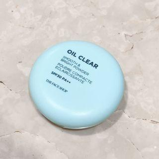 The face shop oil clear smooth & bright powder spf 30pa++