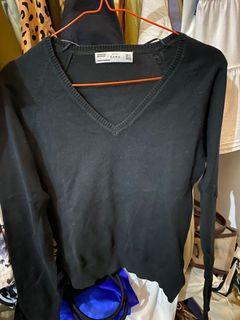 zara black top sweater