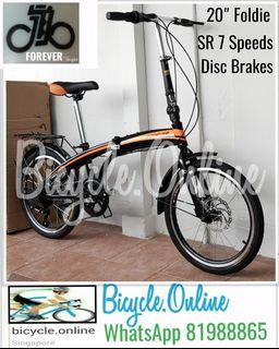 """20"""" Foldable Bicycle / Foldie, RevoShift 7Speeds, Disc Brakes ✩ compact, fits nicely into car boots! ✩ officially allowed on public transport ✩ Brand New Folding Bike * FOREVER"""