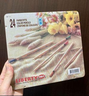 全新利百代色鉛筆24色(無使用)