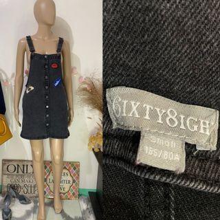 6ixty 8ight denim jumper dress