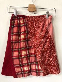 碎花紅短裙