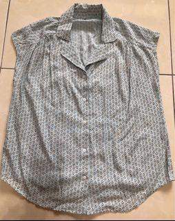 韓標法式小花半袖襯衫