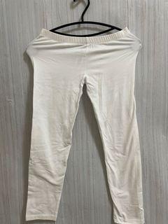 🎁免費送🎁白色 七分 棉質 內搭褲