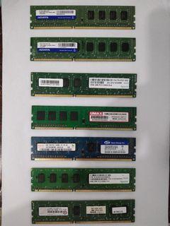 assorted ddr3 2g desktop memory