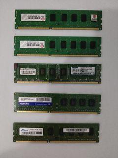 assrted ddr3 4g desktop memory