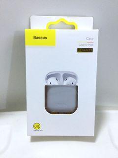 BASEUS Ultra Thin Silicone Case for AirPods. Gray. Suitable for Airpods 1st and 2nd Gen