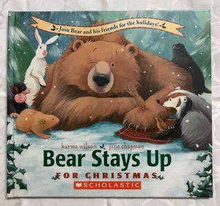 《Bear Stays Up for Christmas》ISBN:0439682622│Scholastic│Karma Wilson│些微泛黃