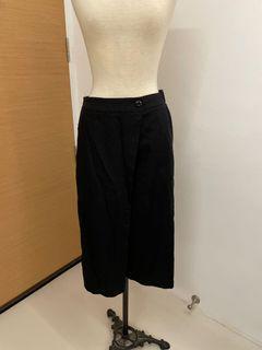 Black korean foldover culottes