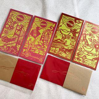 BMW/MINI COOPER Red pocket 紅包袋(信封袋)一組6款各一 共6封